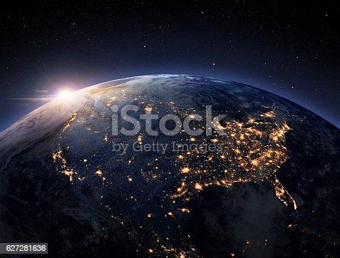 istock Earth night space 627281636