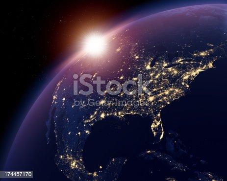 499002117istockphoto Earth nightlights, USA in focus 174457170