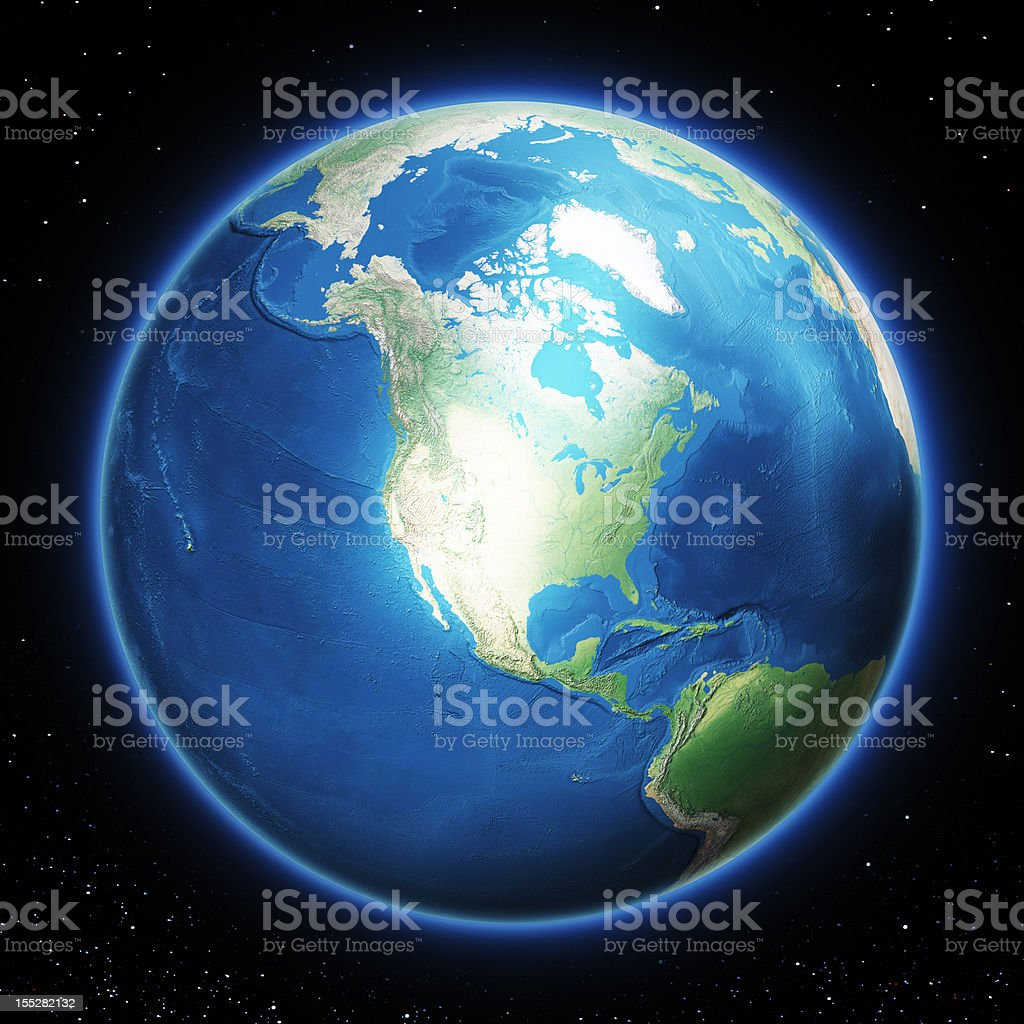 Earth North America stock photo