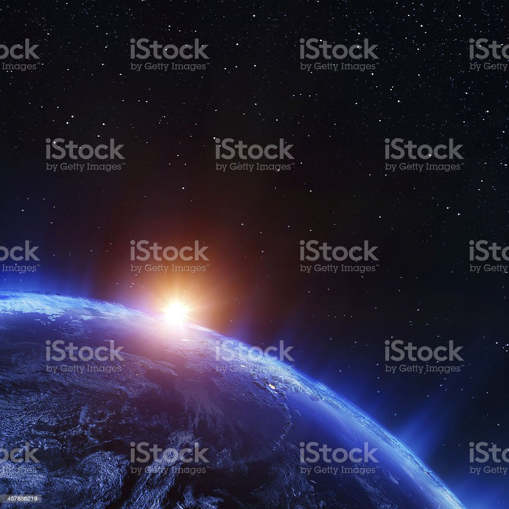 Earth north from space royalty-free stock photo