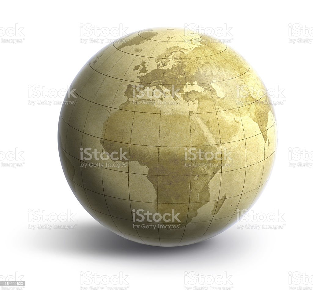 Earth: Old World Europe/Africa royalty-free stock photo