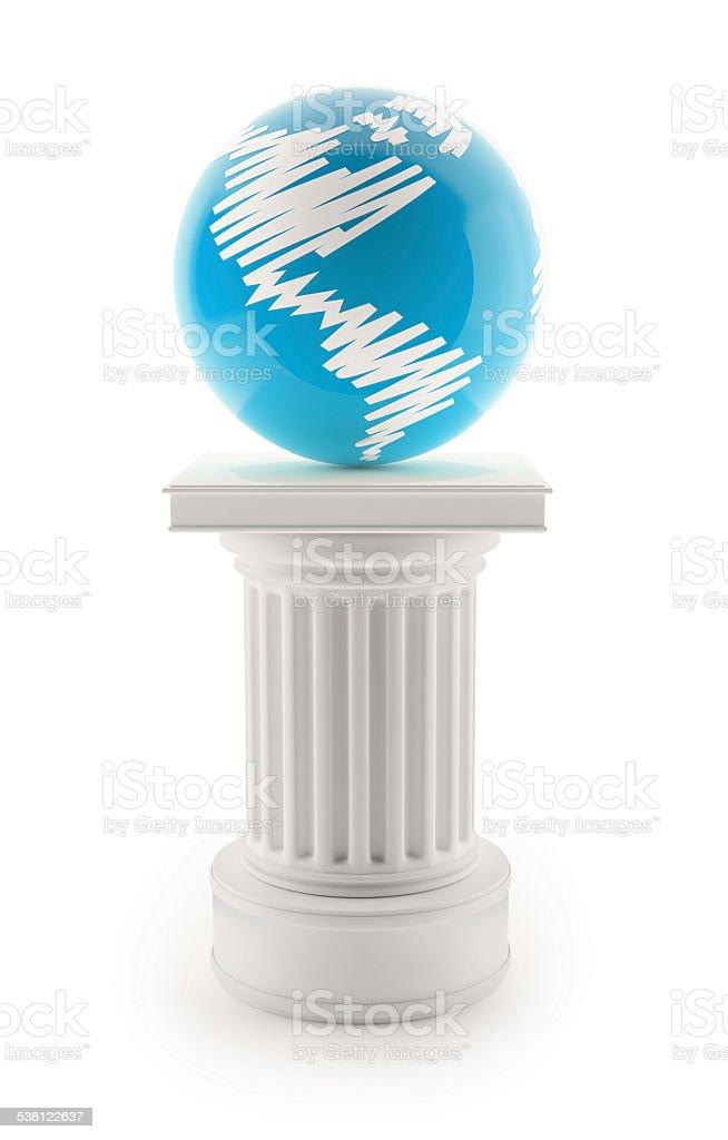 Earth on Column stock photo