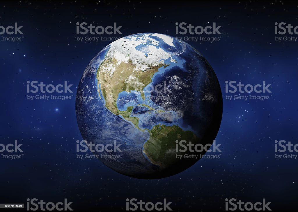 Earth (USA View) stock photo