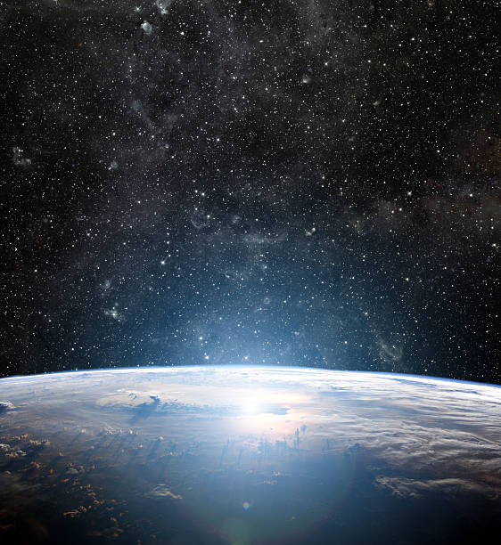 earth planet. elements of this image are furnished by nasa - earth from space bildbanksfoton och bilder