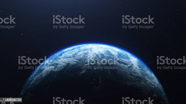 Photo of Earth planet viewed from space , 3d render of planet Earth.