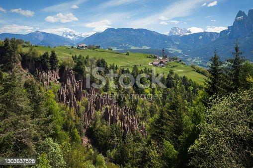 istock Earth pyramides of Renon, South Tyrol, Italy 1303637528