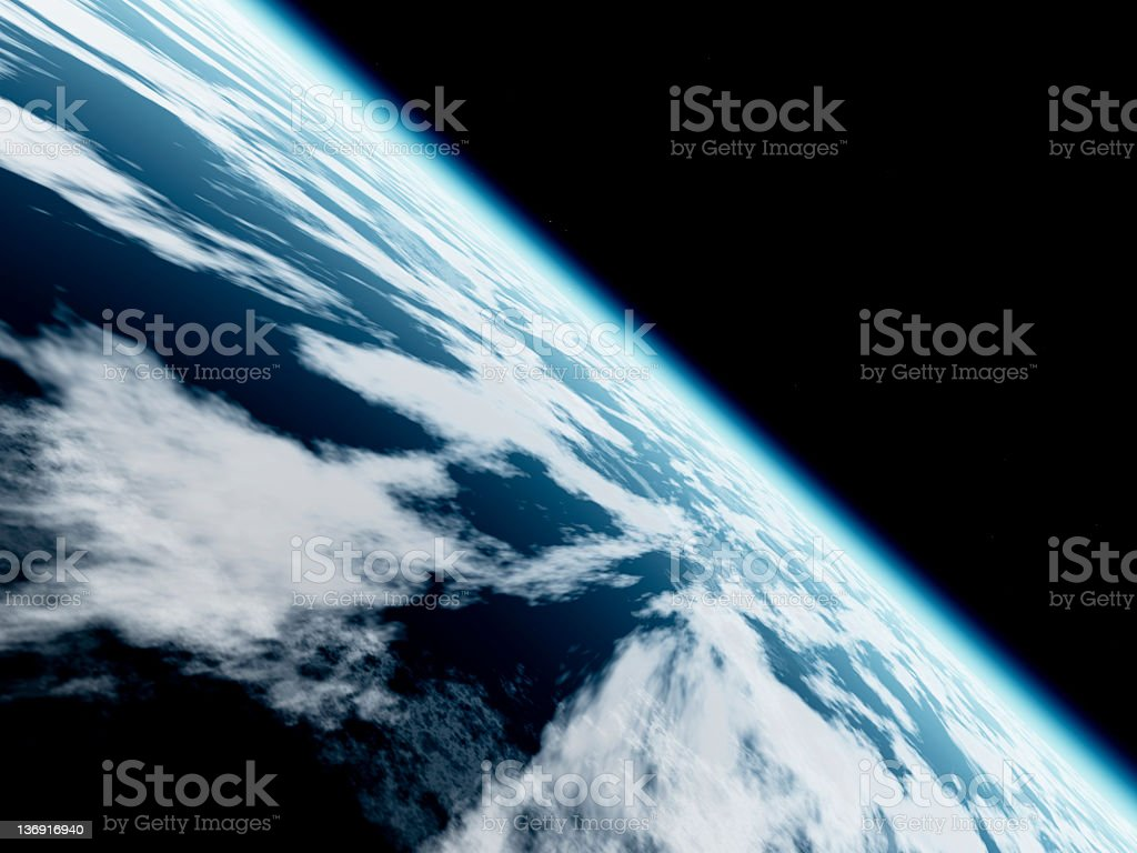 Earth seen from space stock photo