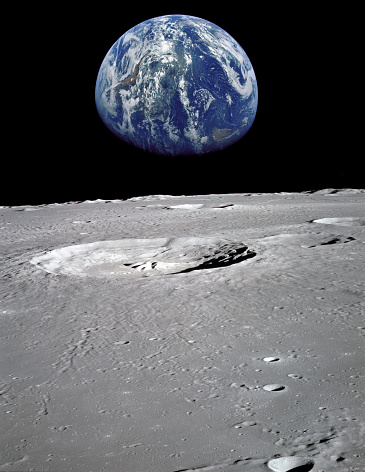 ATTANTION FOR INSPECTOR: This image is composed of 2 modified NASA images  and It is worth to be in istock collection. Please consider this.