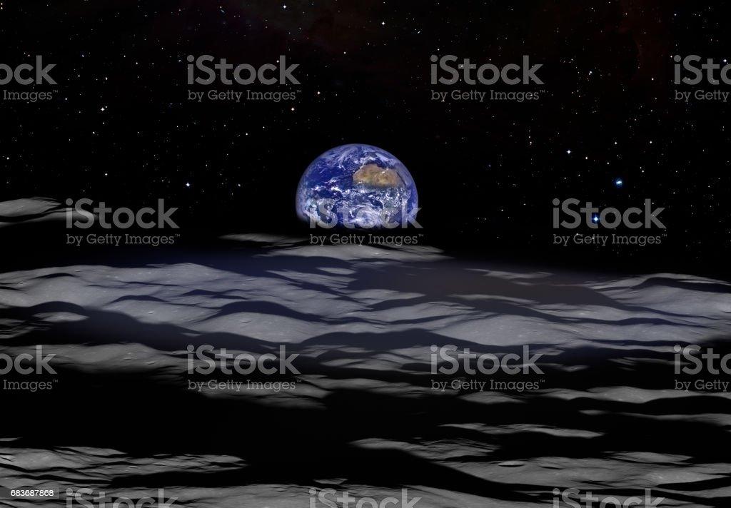 Aydan görülen dünya stok fotoğrafı