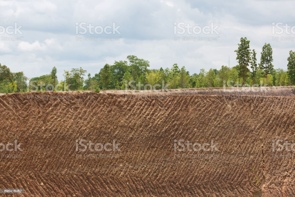 earth soil texture background from ore mine mining stock photo