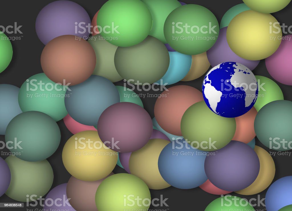 Earth Sphere royalty-free stock photo