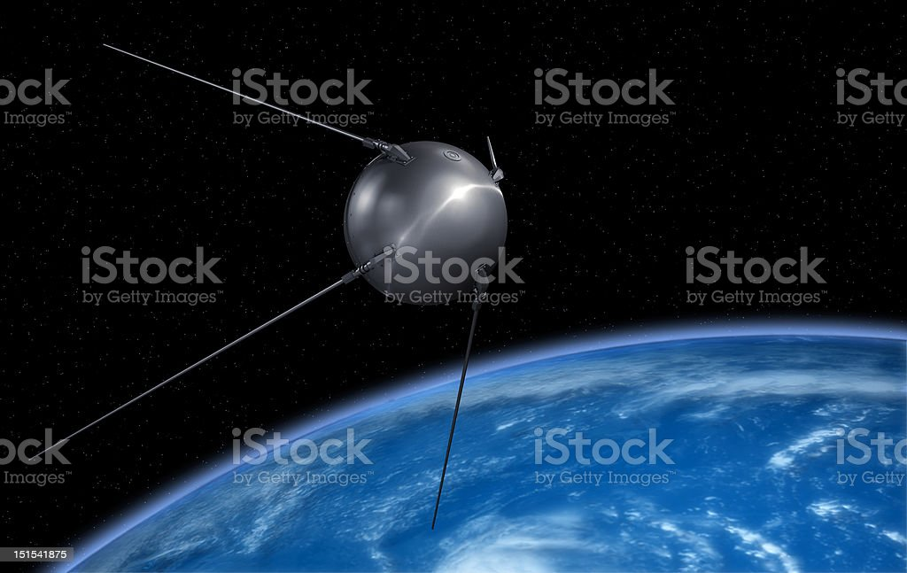 Earth sputnik stock photo