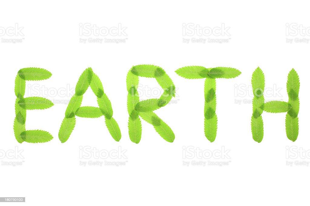 Earth text stock photo