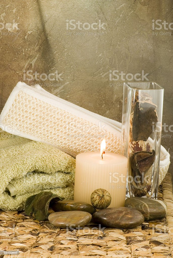 Earth Tones Spa Collection stock photo