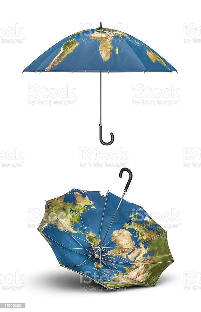 Earth umbrellas royalty-free stock photo