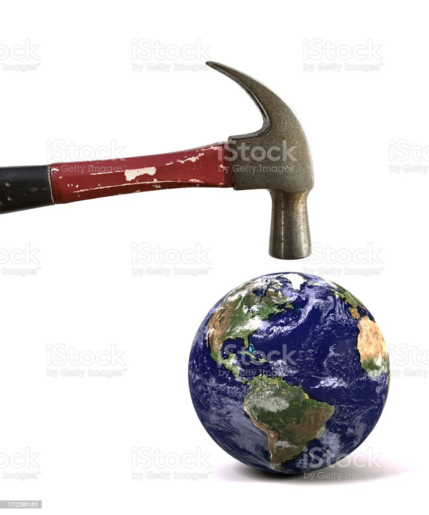 Earth Under Threat royalty-free stock photo