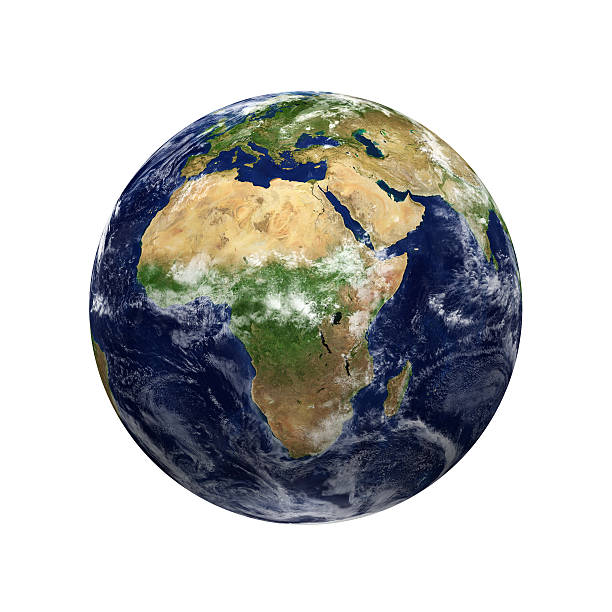 Earth View - Africa stock photo