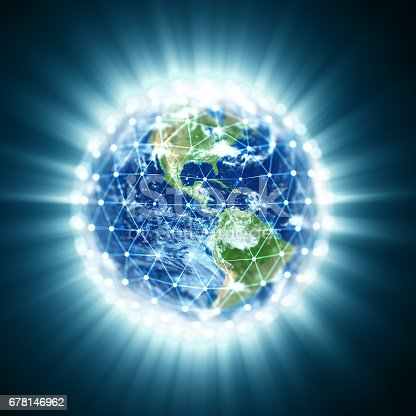 istock Earth with global network. Global Information Grid. World communication. 678146962