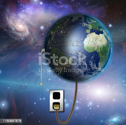 istock Earth with night and day with pull switch 1150697879