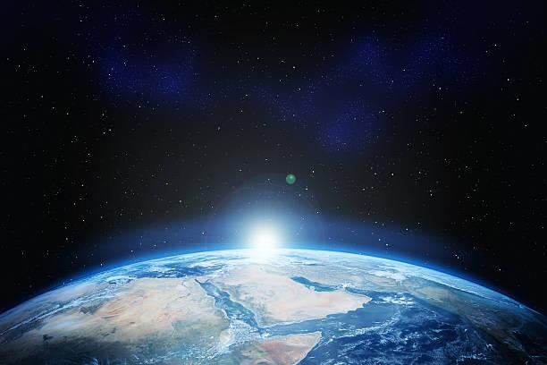 terra com estrelas - exploração espacial - fotografias e filmes do acervo