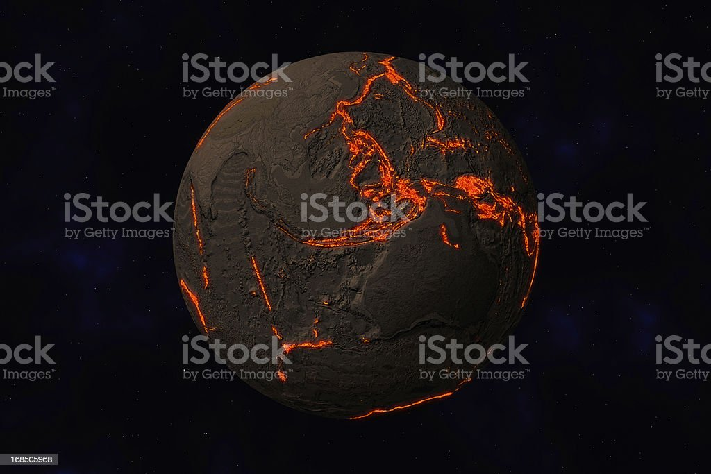 Earth without water and plants in Australia. Along stock photo