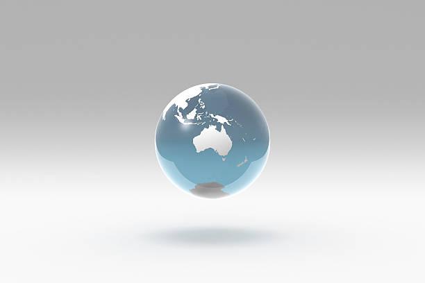 Earth, World Globe, Oceania stock photo