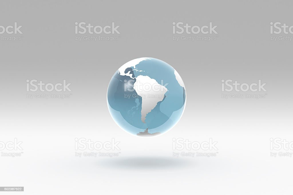 Earth, World Globe, South America stock photo