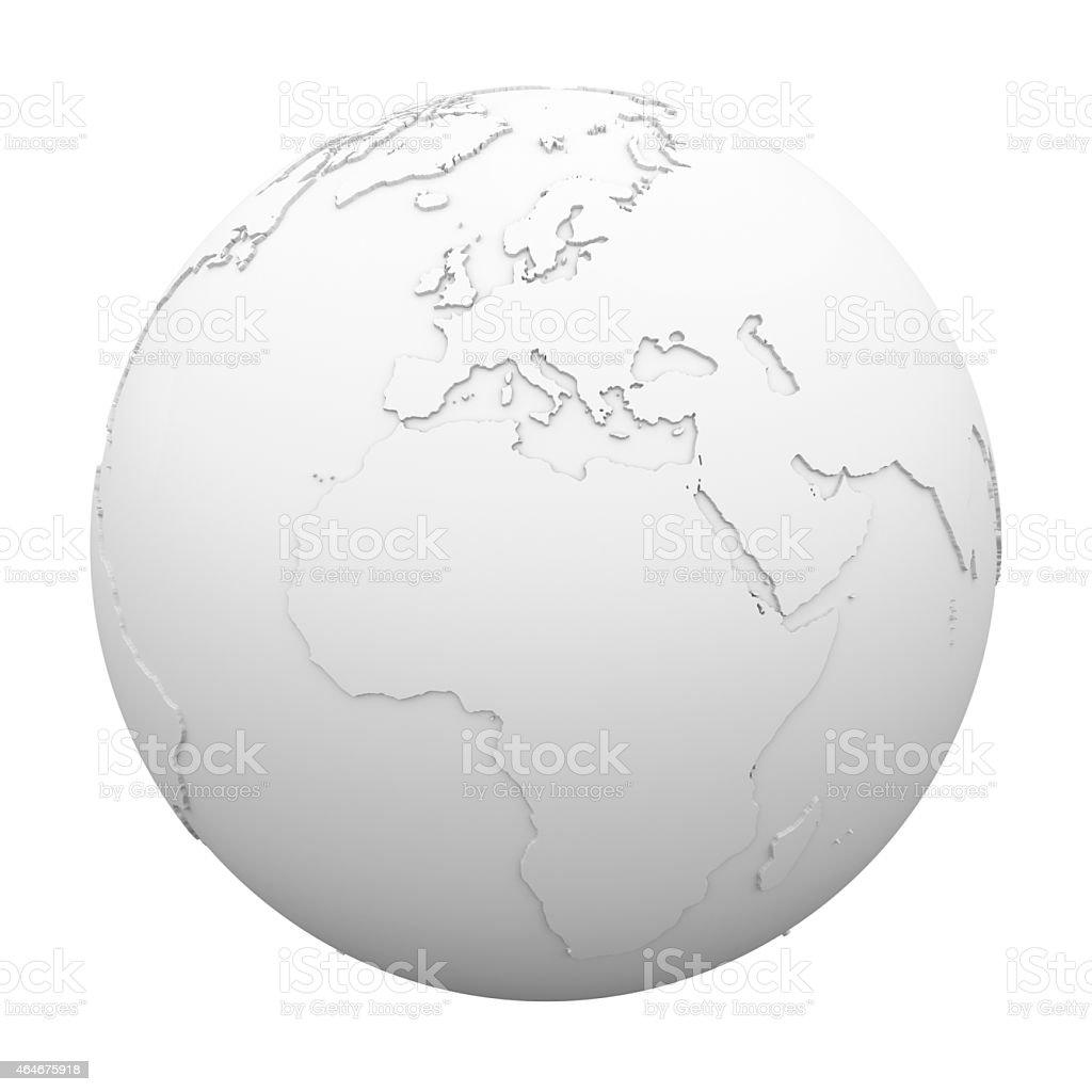 Earth - World Map stock photo