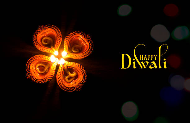 earthen lamps - diwali stock pictures, royalty-free photos & images