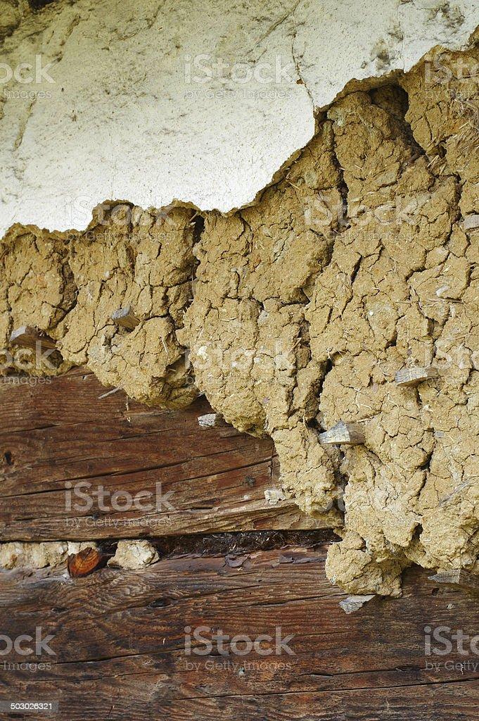earthen plaster royalty-free stock photo