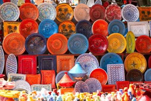 earthenware in tunisian market
