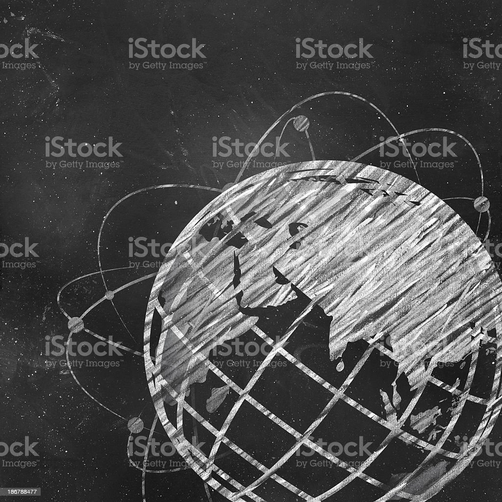 Earth-Global Communications stock photo