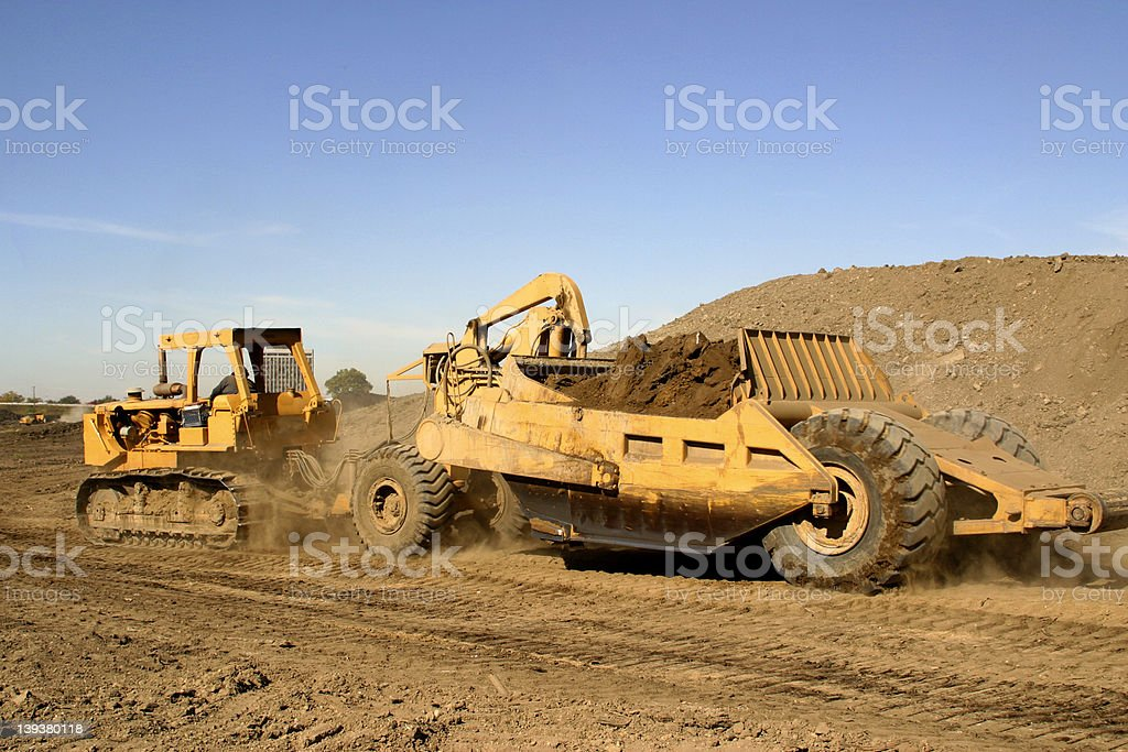 Earthmover on a Beautiful Day stock photo