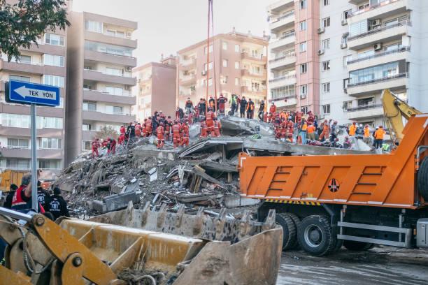 Earthquake 2020 in Izmir, Turkey. stock photo