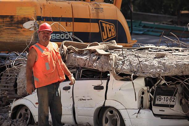 Erdbeben beschädigt, Chile – Foto