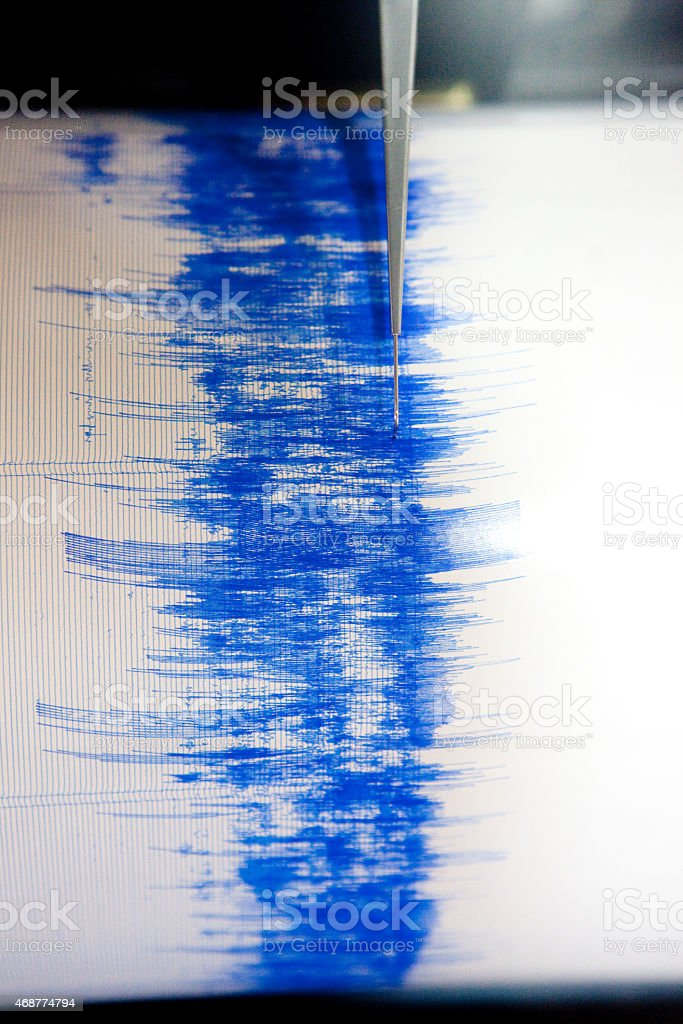 Earthquake Seismograph stock photo
