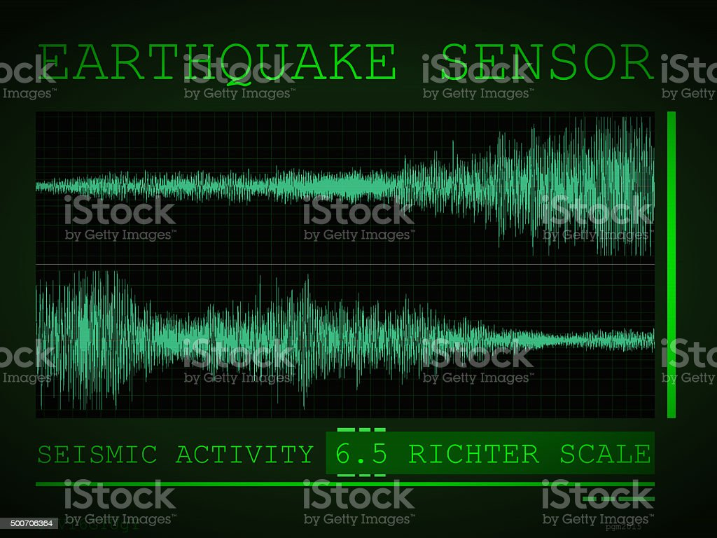 Earthquake Sensor stock photo