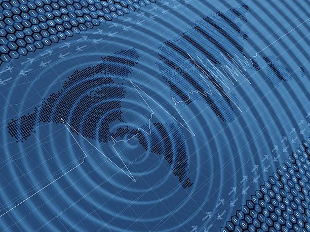 Erdbeben wave auf die seismische Aktivität – Foto