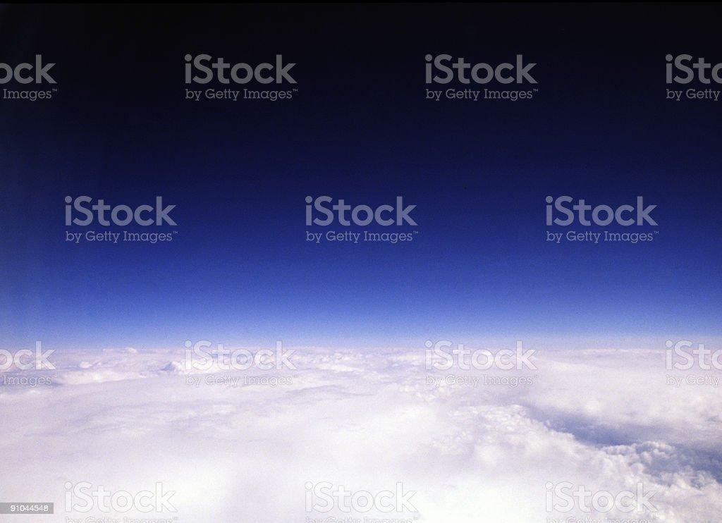 Earth's Atmosphere Looking Into Space 2 royalty-free stock photo