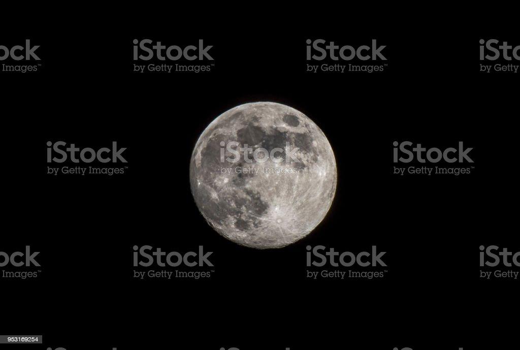 Earth's Full Moon stock photo