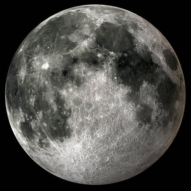 Earth's Full Moon v2 stock photo