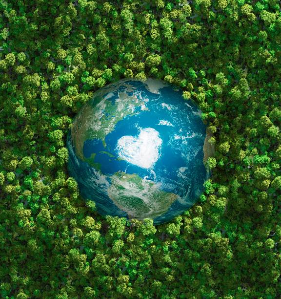 earth's heart - recycling heart bildbanksfoton och bilder