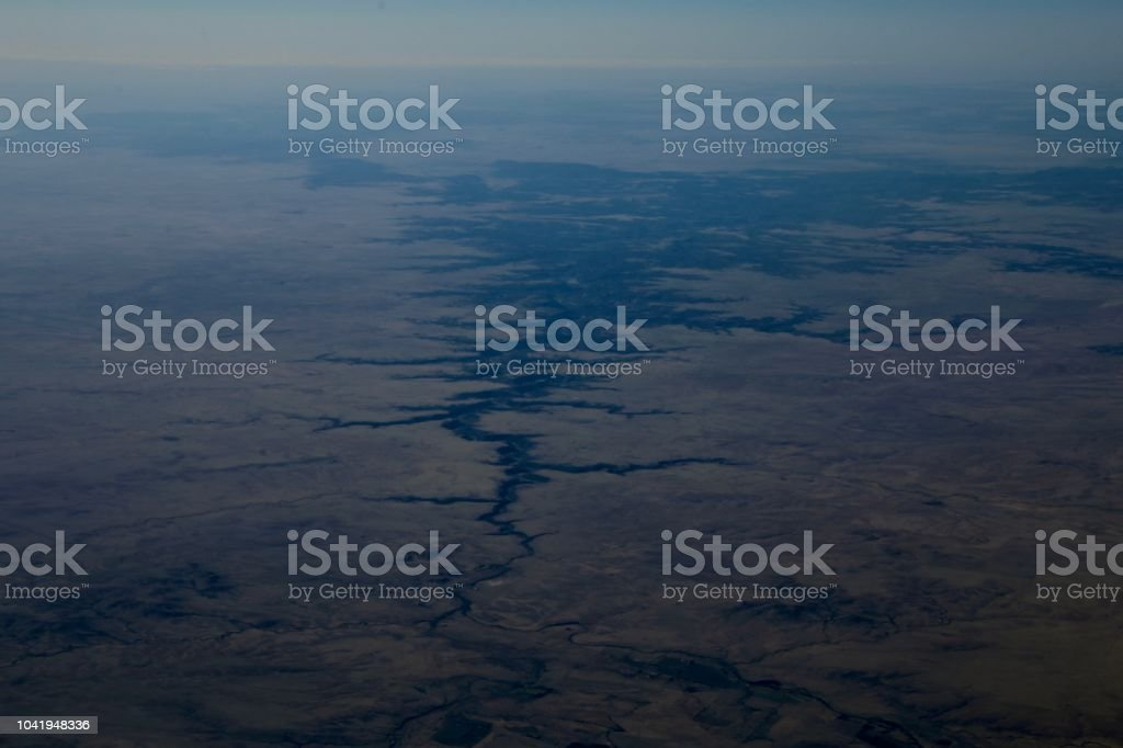 Earths Scars stock photo