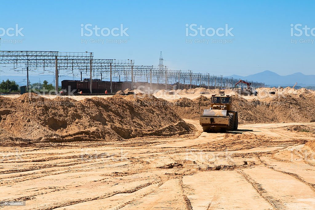 earthwork stock photo