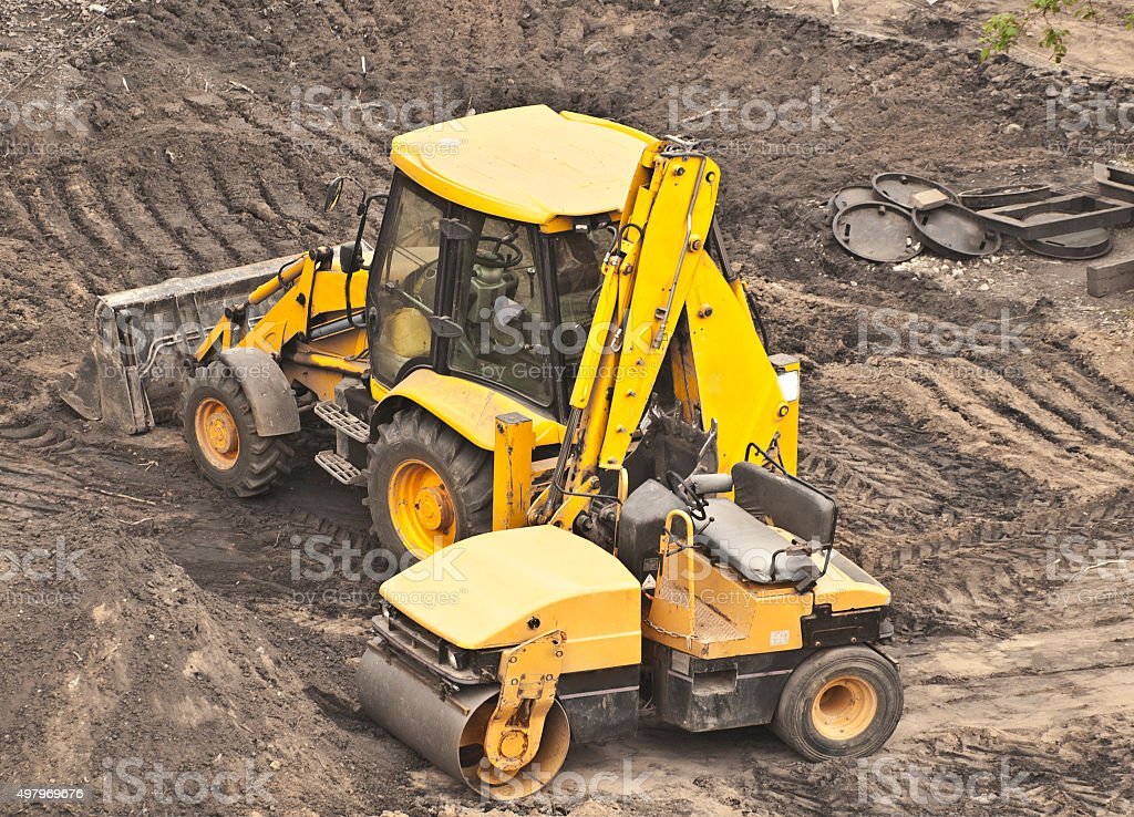 earthworks stock photo