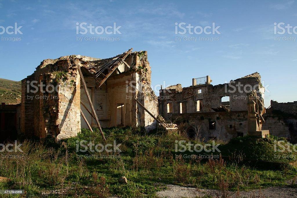 Eartquake rubbles royalty-free stock photo