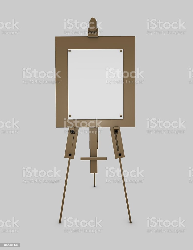 Easel artistic equipment royalty-free stock photo
