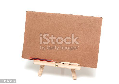 170011440 istock photo Easel isolated on white background 184939417