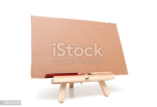 170011440 istock photo Easel isolated on white background 185054323