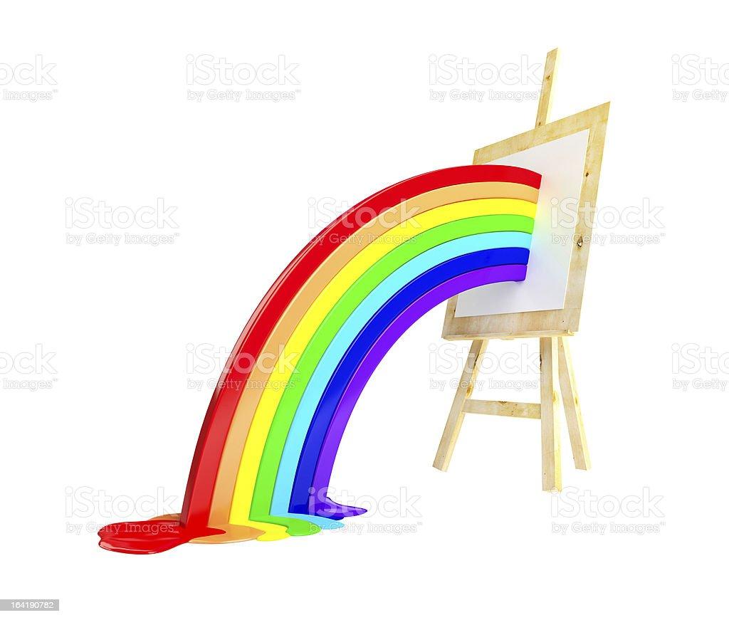 easel rainbow royalty-free stock photo